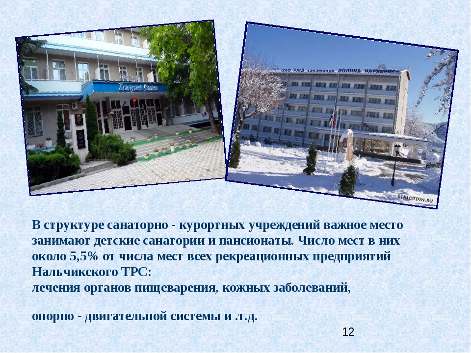 В структуре санаторно - курортных учреждений важное место занимают детские са...