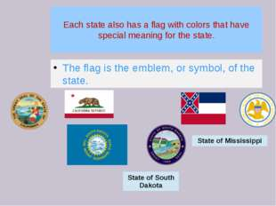 Each state also has a flag with colors that have special meaning for the stat