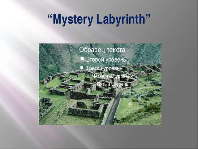 """Mystery Labyrinth"""