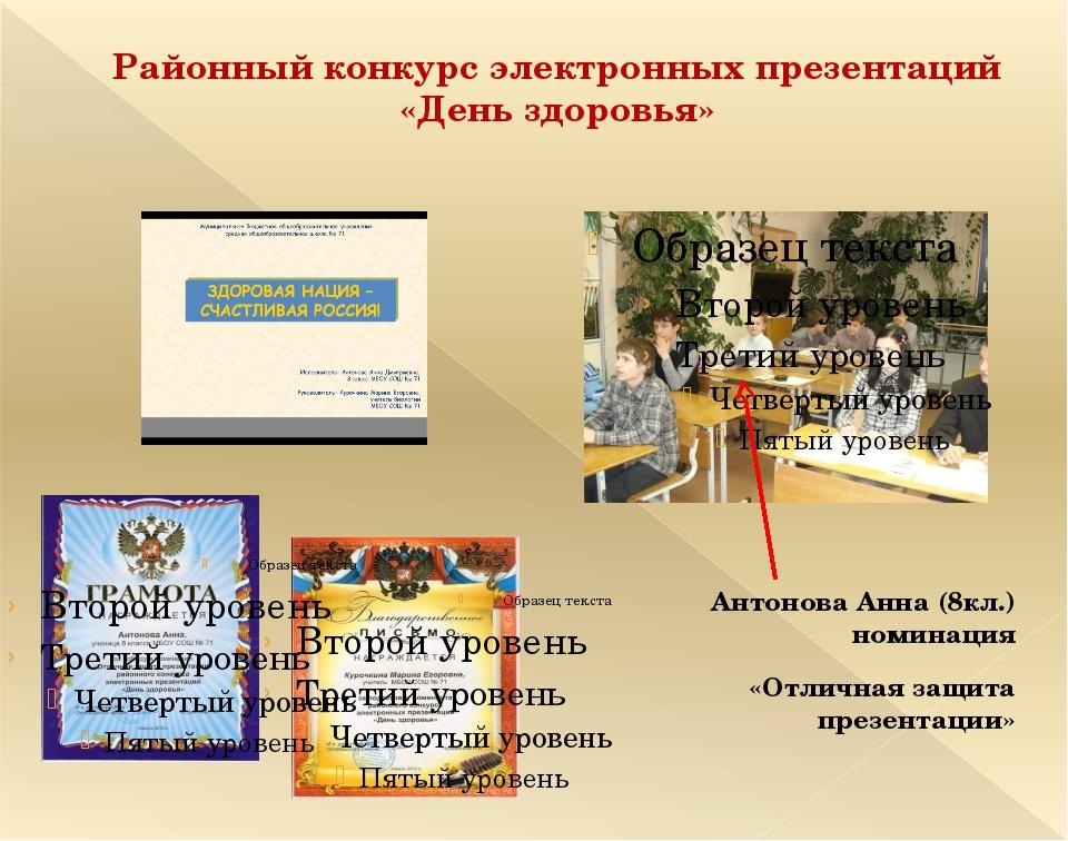 Защита презентаций на конкурс