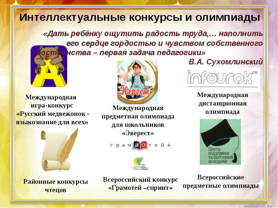 Интеллектуальные конкурсы для школьников