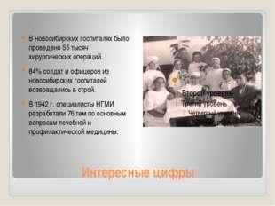 Интересные цифры В новосибирских госпиталях было проведено 55 тысяч хирургиче