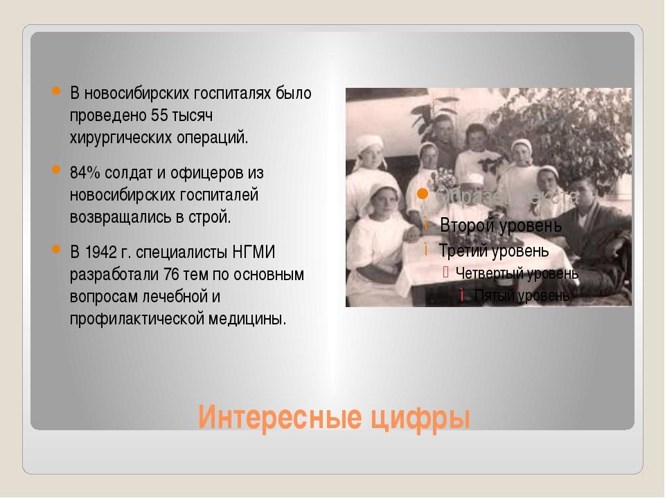 Интересные цифры В новосибирских госпиталях было проведено 55 тысяч хирургиче...