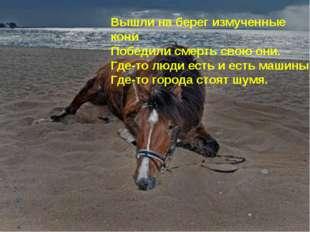 Вышли на берег измученные кони Победили смерть свою они. Где-то люди есть и е