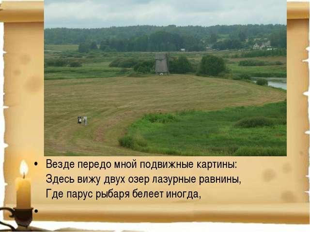 Везде передо мной подвижные картины: Здесь вижу двух озер лазурные равнины, Г...