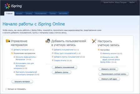 Система Дистанционного Обучения iSpring Online