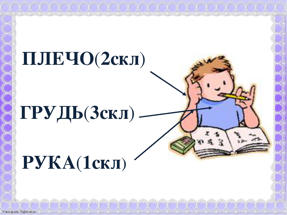 РУКА(1скл) ГРУДЬ(3скл) ПЛЕЧО(2скл) FokinaLida.75@mail.ru