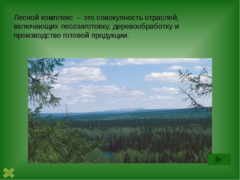 1. Лесозаготовительная промышленность включает лесозаготовку, лесосплав, лес...