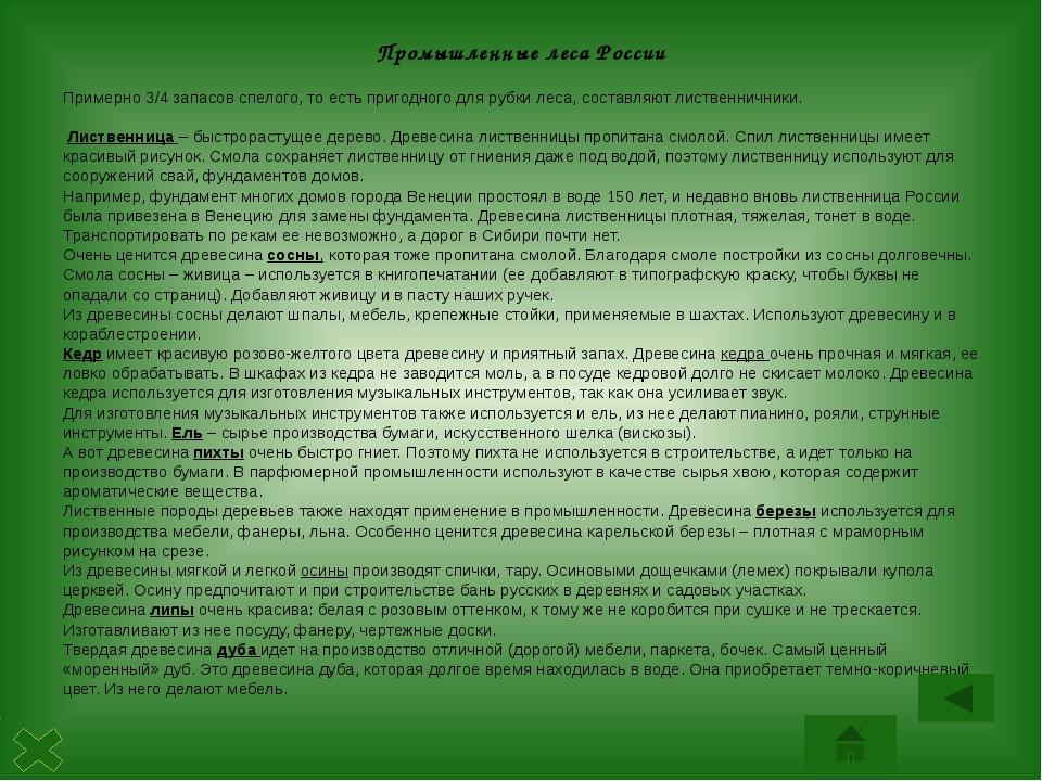Состав лесной промышленности