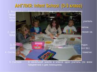 АНГЛИЯ: Infant School (0-3 класс) 5. Учителя В начальной школе в классе один