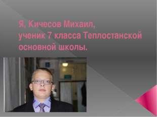 Я, Кичесов Михаил, ученик 7 класса Теплостанской основной школы.