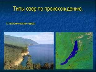 Типы озер по происхождению. 1) тектонические озера;