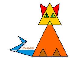 Картинки по запросу рисунок из треугольников фото