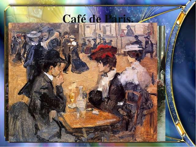 Café de Paris.