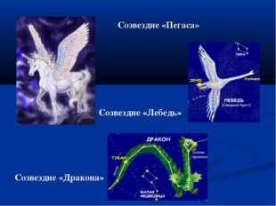 Созвездие «Пегаса» Созвездие «Дракона» Созвездие «Лебедь»