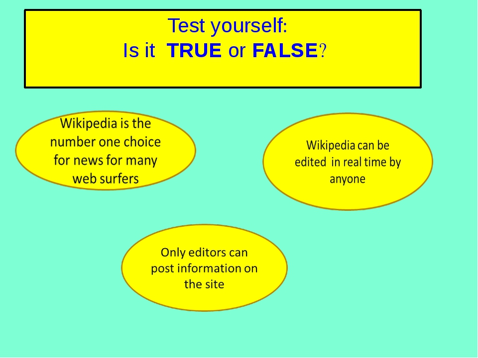 True or False: Test your knowledge of the lesson so far by deciding whether t...