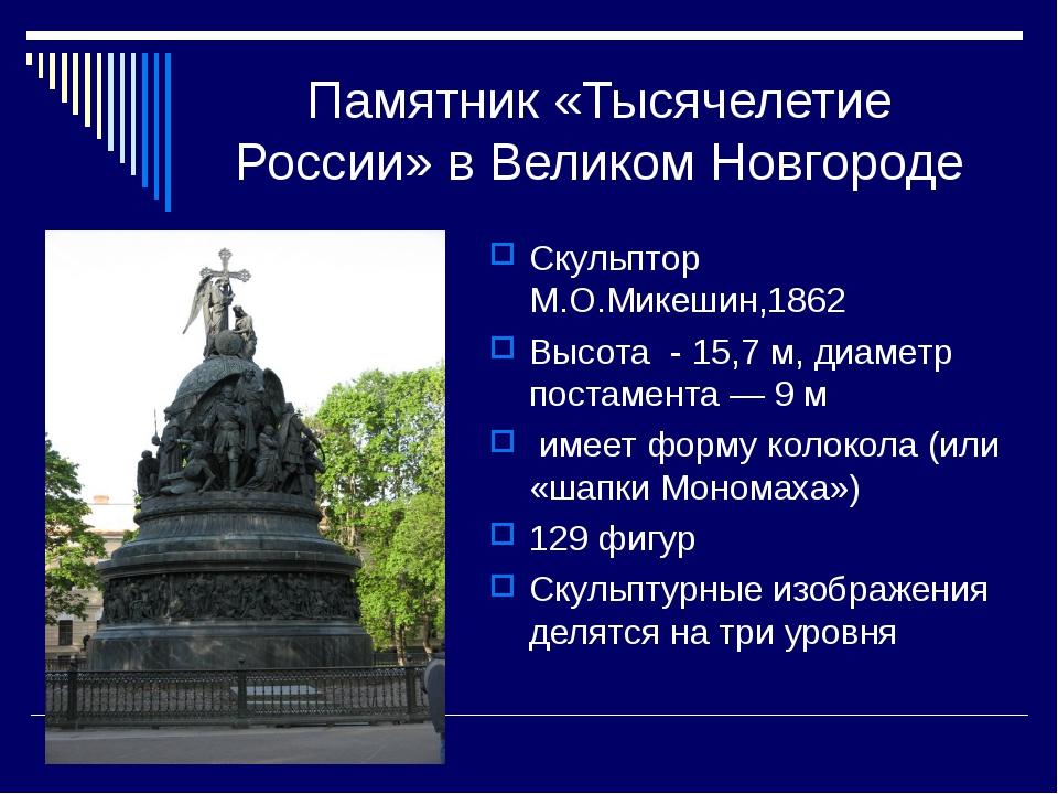 Памятник «Тысячелетие России» в Великом Новгороде Скульптор М.О.Микешин,1862...