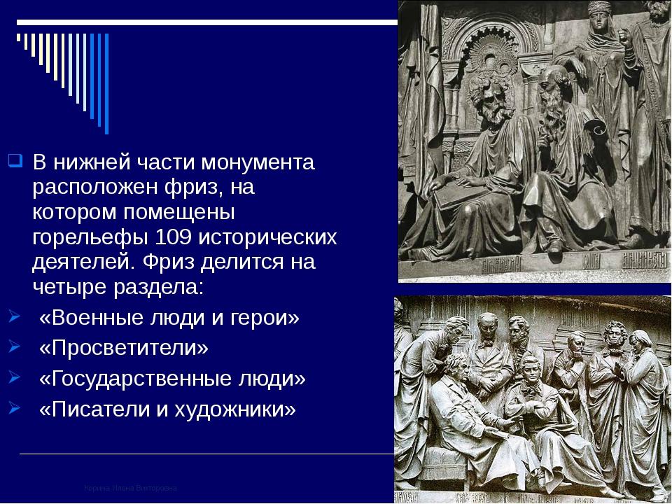 В нижней части монумента расположен фриз, на котором помещены горельефы 109 и...