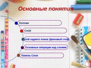 Основные понятия Панель Слои Основные операции над слоями Слой заднего плана