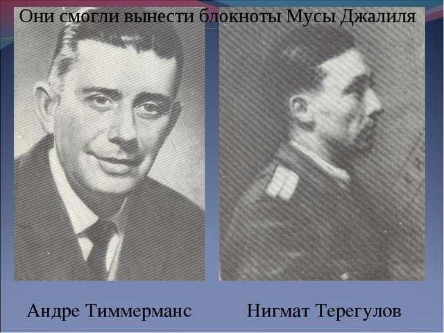 Андре Тиммерманс Нигмат Терегулов Они смогли вынести блокноты Мусы Джалиля