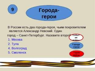 В России есть два города-героя, чьим покровителем является Александр Невский
