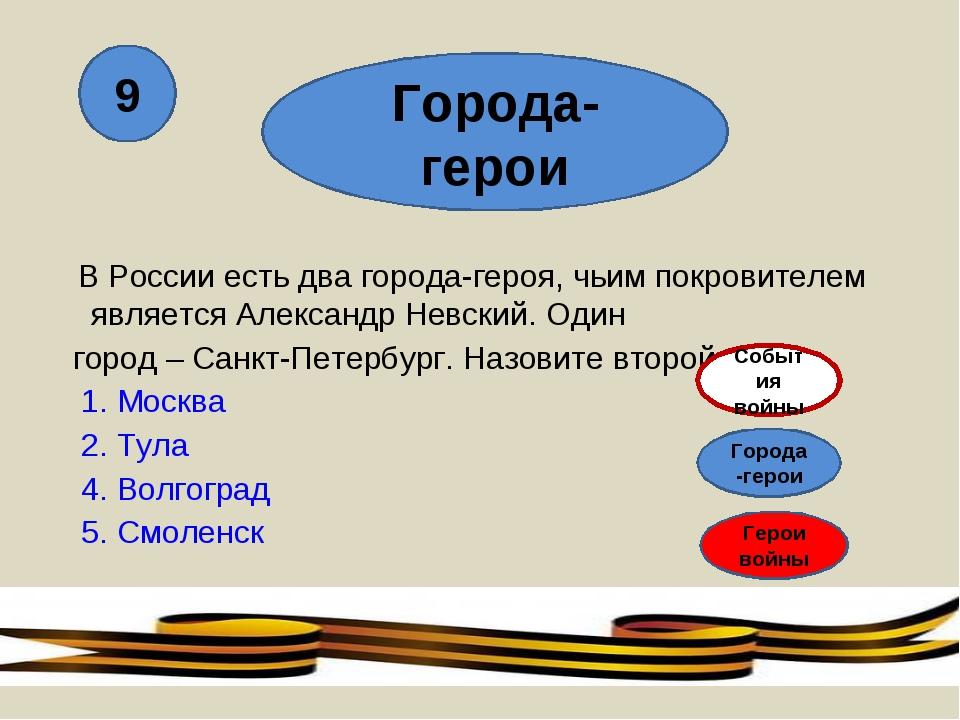 В России есть два города-героя, чьим покровителем является Александр Невский...