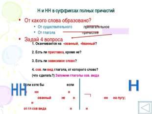 Н и НН в суффиксах полных причастий От какого слова образовано? От существите
