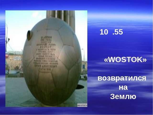 10 .55 «WOSTOK» возвратился на Землю