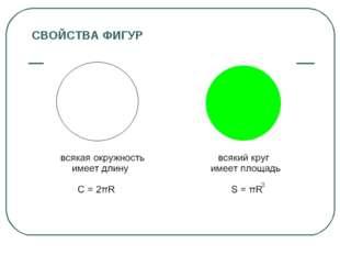 СВОЙСТВА ФИГУР