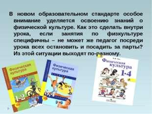 В новом образовательном стандарте особое внимание уделяется освоению знаний о