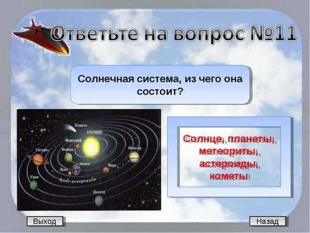 Назад Солнечная система, из чего она состоит? Солнце, планеты, метеориты, аст...