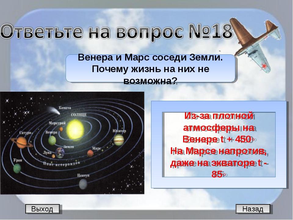 Назад Венера и Марс соседи Земли. Почему жизнь на них не возможна? Из-за плот...