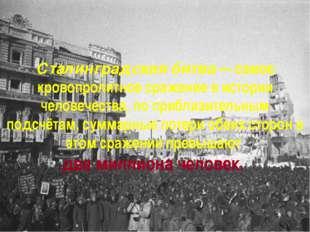 Сталинградская битва — самое кровопролитное сражение в истории человечества,