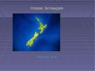 Новая Зеландия. Игровое поле