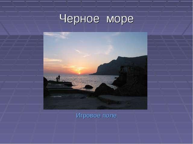 Черное море Игровое поле