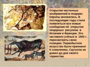 Открытия настенных изображений в пещерах Европы множились. В последующие годы