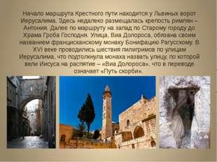 Начало маршрута Крестного пути находится у Львиных ворот Иерусалима. Здесь не