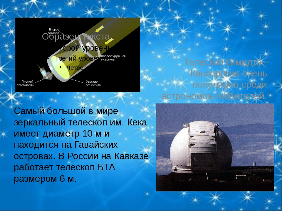 Телескоп Шмидта–Кассергена очень популярен среди астрономов-любителей. Самый...