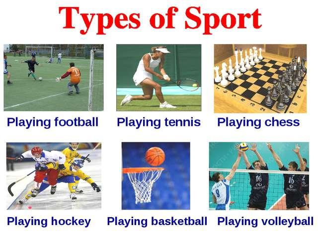 Playing football Playing tennis Playing chess Playing hockey Playing basketba...
