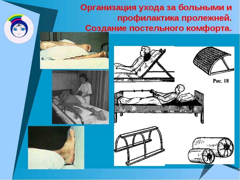 Организация ухода за больными и профилактика пролежней. Создание постельного...