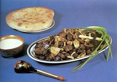 Kazakhstan food - Kuirdak
