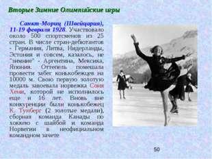 Вторые Зимние Олимпийские игры Санкт-Мориц (Швейцария), 11-19 февраля 1928. У