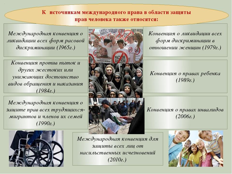 Международная конвенция для защиты всех лиц от насильственных исчезновений (...