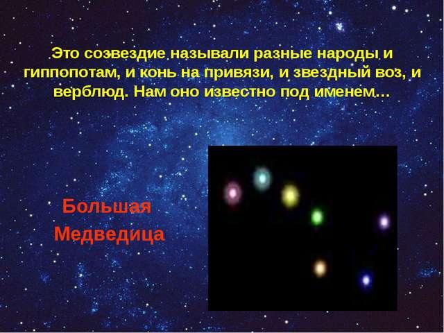 Это созвездие называли разные народы и гиппопотам, и конь на привязи, и звезд...