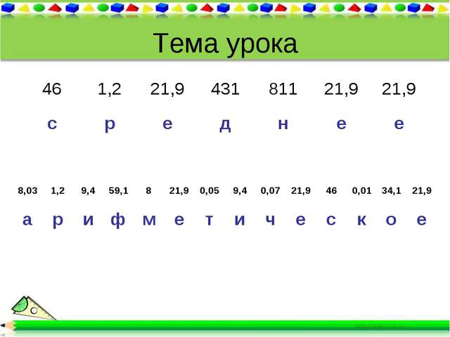 Тема урока 8,031,29,459,1821,90,059,40,0721,9460,0134,121,9 ар...