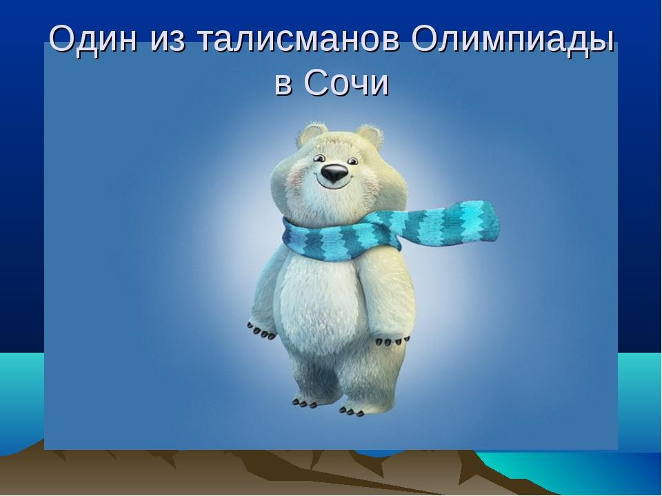 Один из талисманов Олимпиады в Сочи