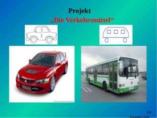 "Projekt ""Die Verkehrsmittel"" Иневатова Е.В"