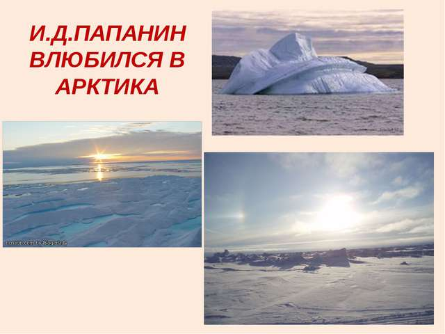 И.Д.ПАПАНИН ВЛЮБИЛСЯ В АРКТИКА
