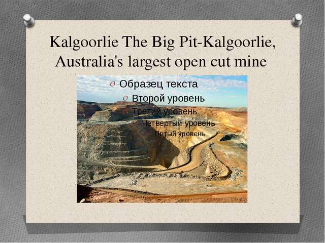 Kalgoorlie The Big Pit-Kalgoorlie, Australia's largest open cut mine