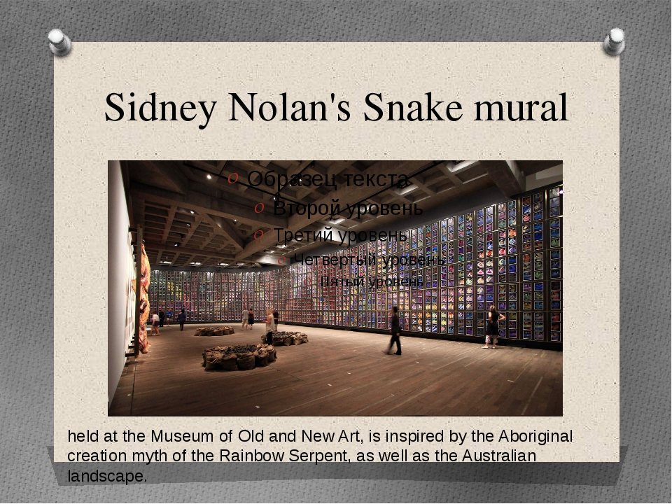 Sidney Nolan's Snake mural held at the Museum of Old and New Art, is inspired...